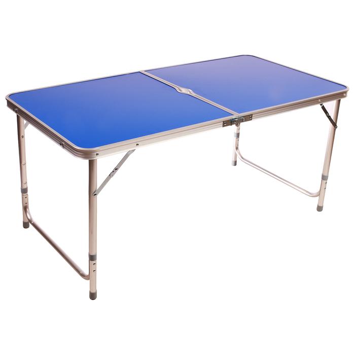 Стол туристический, алюминиевый 120х60х70 см, цвет синий