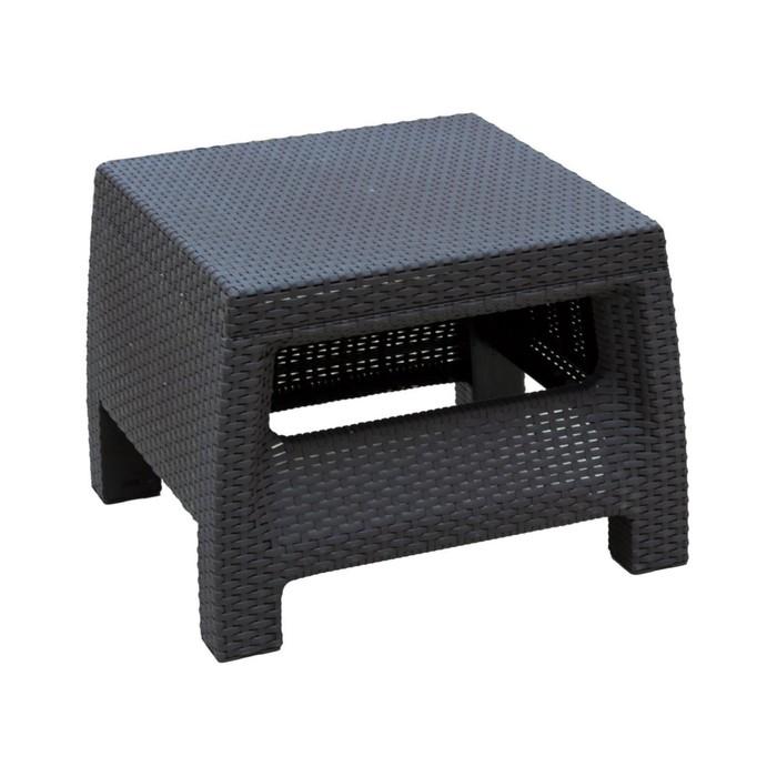 Стол «Ротанг», 57 × 51,5 × 42 см, цвет шоколад