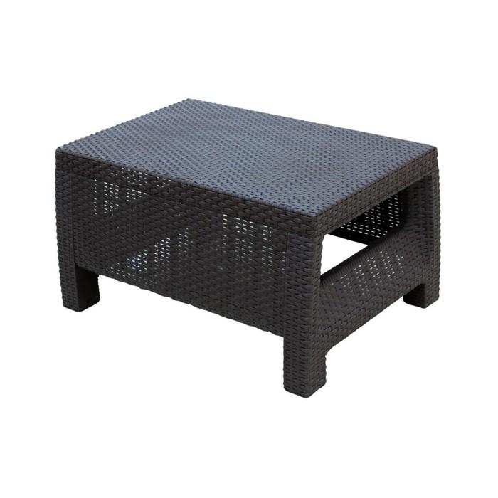 Стол «Ротанг», 76,5 × 57 × 42 см, пластик, цвет шоколад