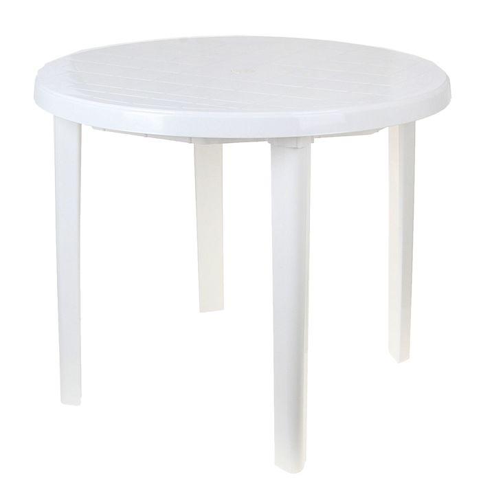 Стол круглый, размер 90 х 90 х 75 см, цвет белый