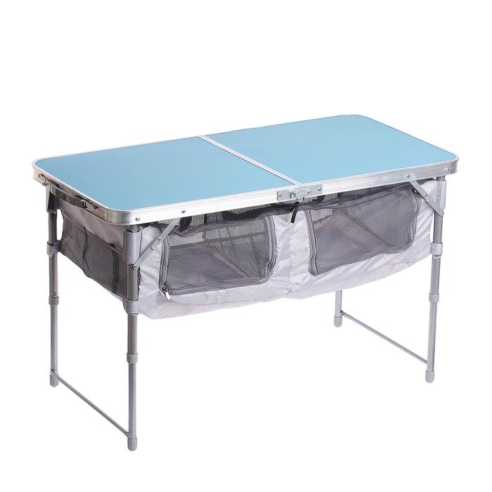 Стол 1020х500мм складной голубой ССТ-3П