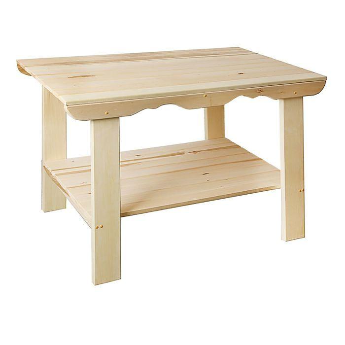Стол с полкой 140×63×73 см