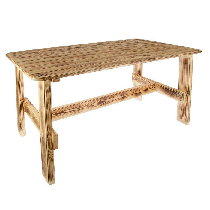 """Стол к набору """"Дачный"""" 120 см, сосна обожженый лакированный"""