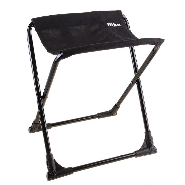 Стул походный с пластиковыми уголками, размер 360х300х370 мм, цвет чёрный