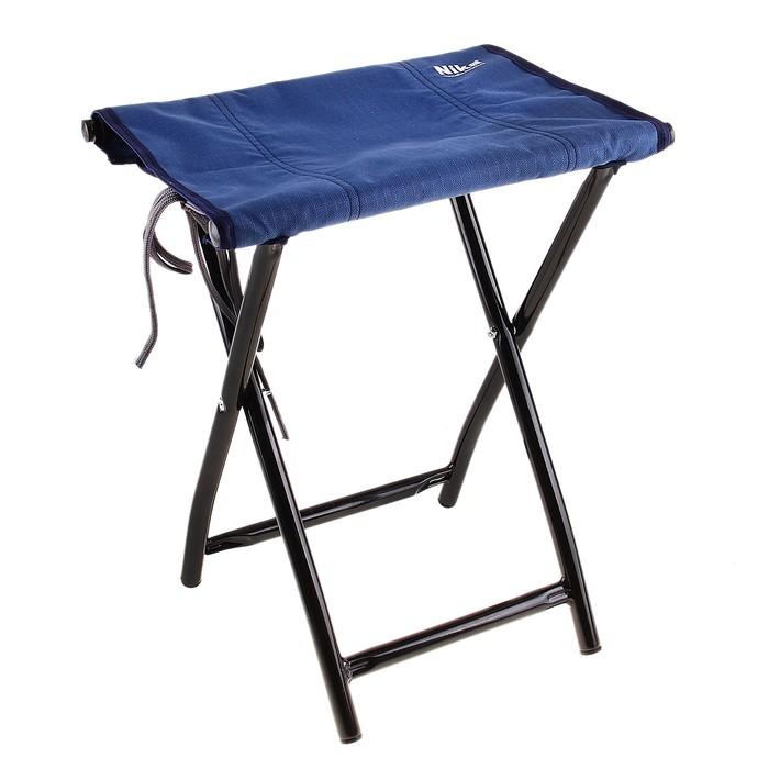 Стул складной, размер 350х280х410 мм, цвет синий