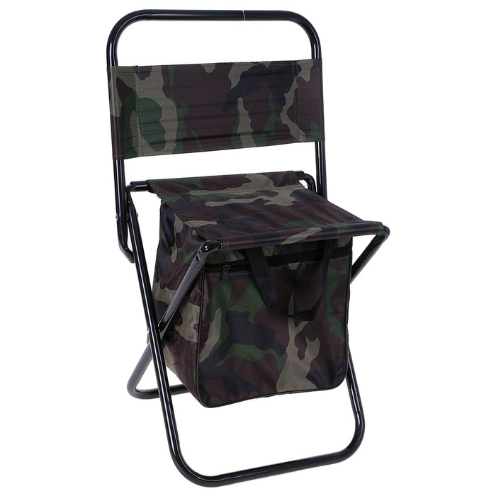 Стул туристический с сумкой, до 60 кг, размер 35 х 26 х 60 см, цвет хаки
