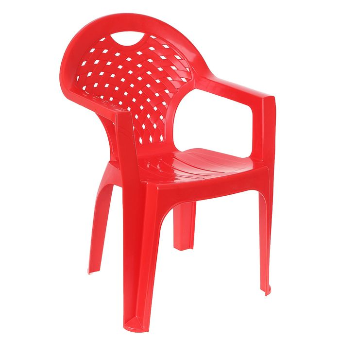 Стул-кресло, красный