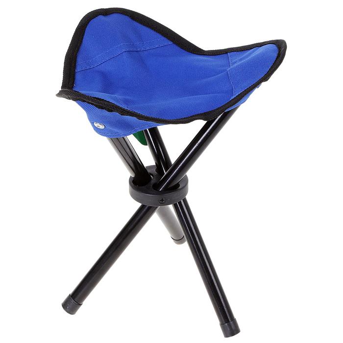 Стул туристический треугольный, до 60 кг, цвет синий