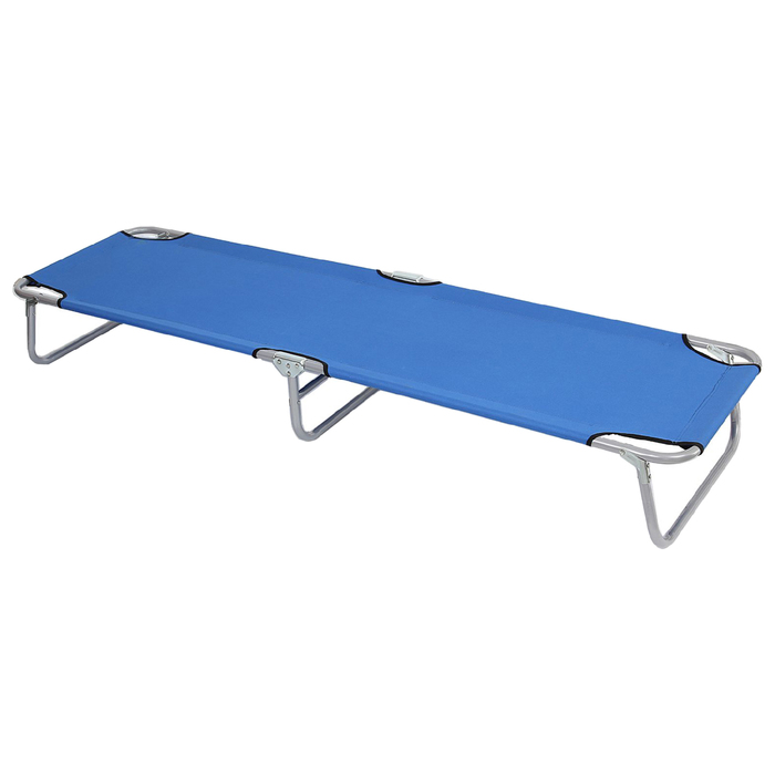 Раскладушка туристическая 192х55х28 см, цвет: голубой, до 100 кг