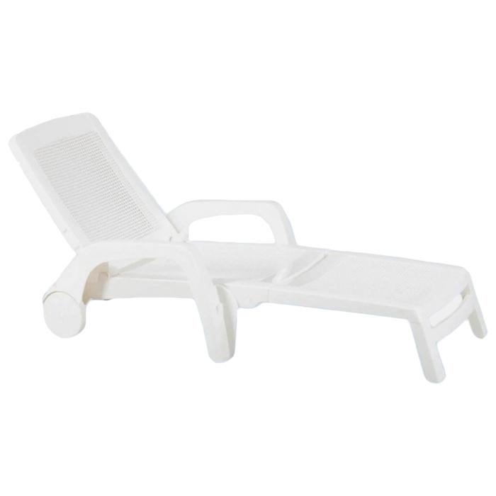 Шезлонг (искусственный ротанг) Miami Nebraska, цвет белые