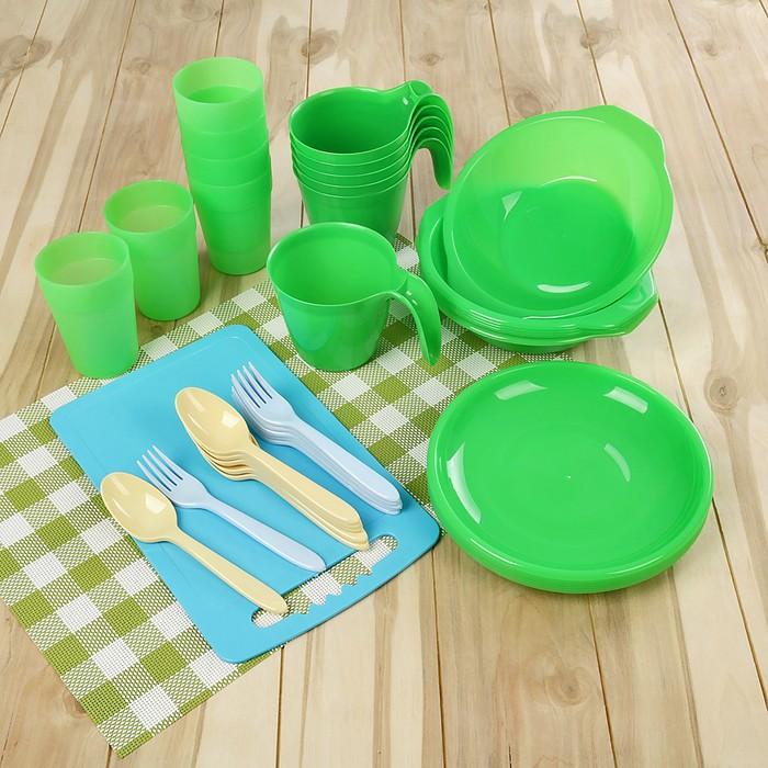 Набор посуды на 6 персон «Все за стол», 44 предметов