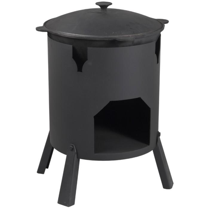 """Печь под казан """"Казанка-370""""  диаметр 37 см, для казанов 8-12 литров, 3 мм"""