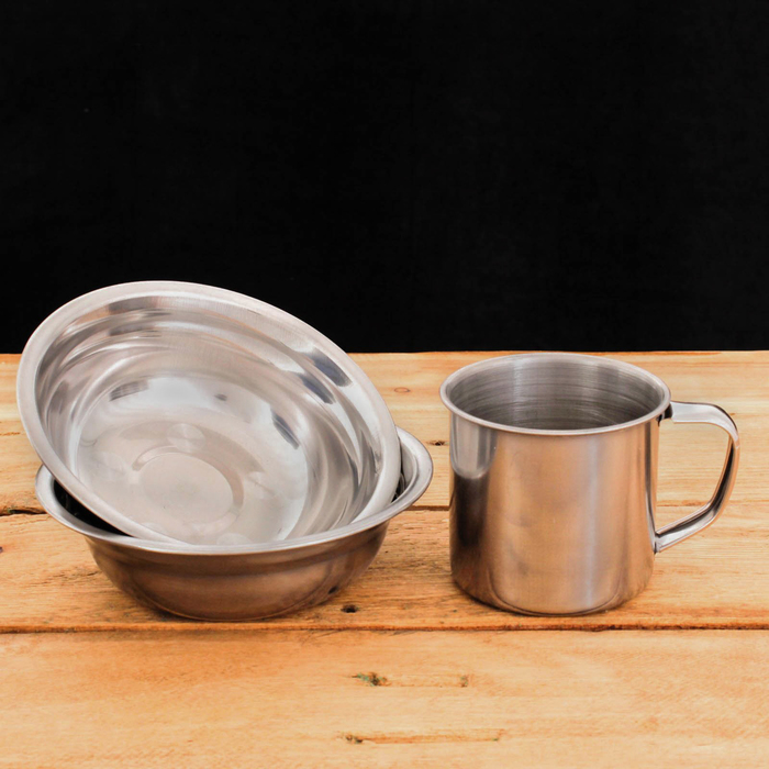 """Набор посуды в термосумке 3 л """"Большое приключение"""", тарелка 2 шт. 300 мл, кружка 200 мл"""