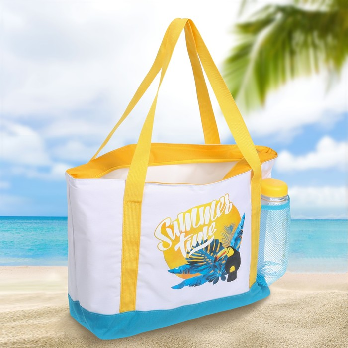 Термосумка пляжная с бутылкой «Summer time», 10 л