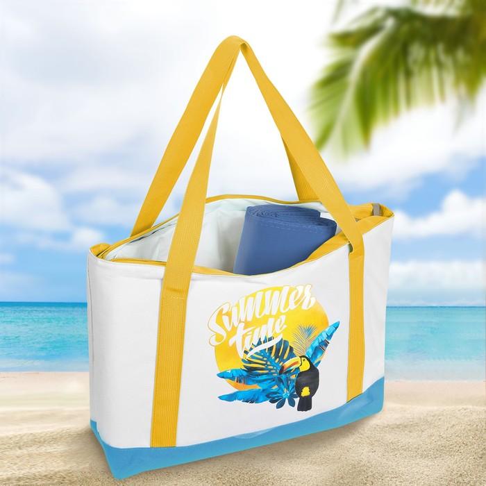 Термосумка пляжная с циновкой «Summer time», 10 л