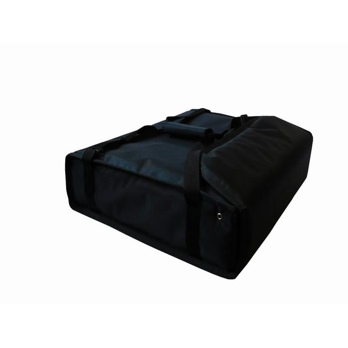 Термосумка на 2 пиццы 450 х 450 х 100 мм, фольгированная, с вентиляцией, цвет чёрный