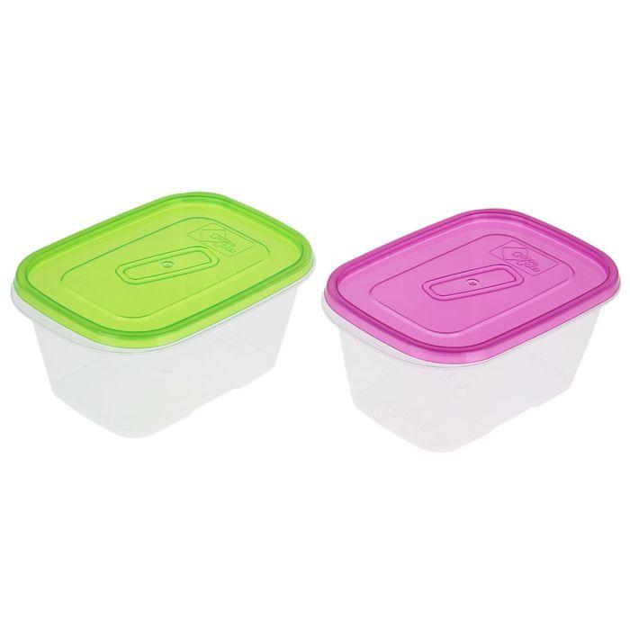Контейнер пищевой 1,1 л , цвет розовый