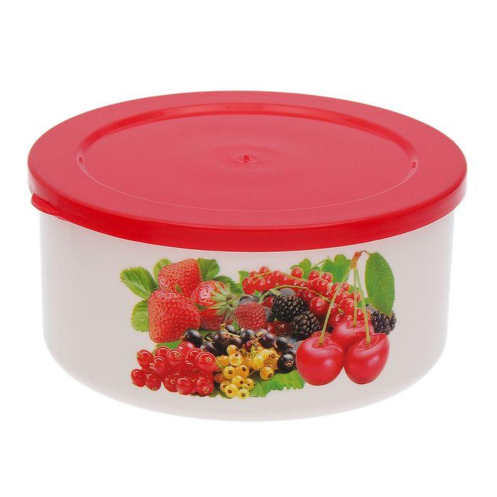 """Контейнер пищевой круглый 700 мл """"Смак"""", цвет красный"""