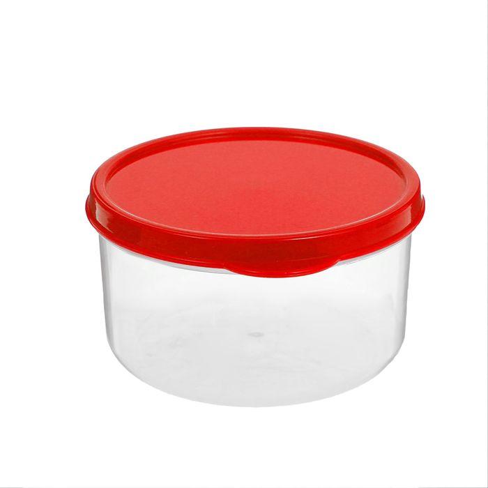 Контейнер пищевой 300 мл круглый, цвет красный