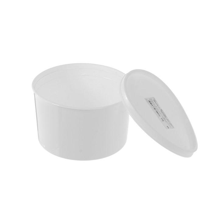 Контейнер пищевой 600 мл с герметичной крышкой, цвет белый