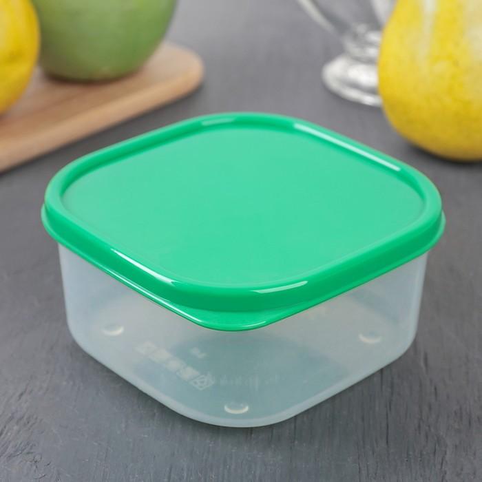 Контейнер пищевой 400 мл, цвет зелёный
