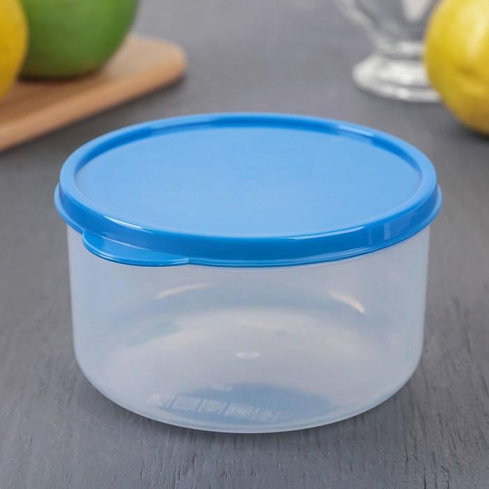 Контейнер пищевой 500 мл круглый, цвет синий