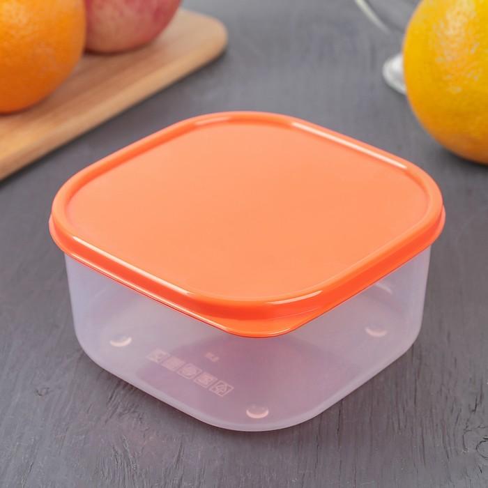 Контейнер пищевой 700 мл, цвет оранжевый