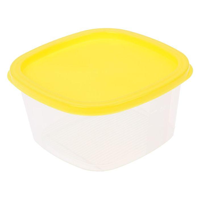 Контейнер пищевой 900 мл BioFresh квадратный, цвет желтый