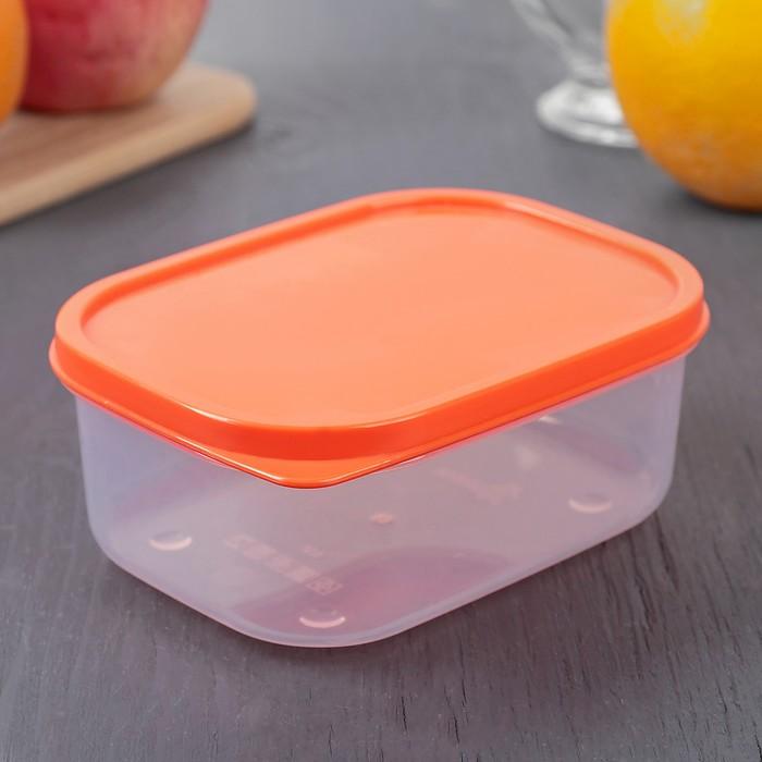 Контейнер пищевой 500 мл, цвет оранжевый