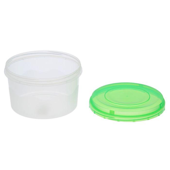Контейнер пищевой 1,5 л круглый, цвет МИКС