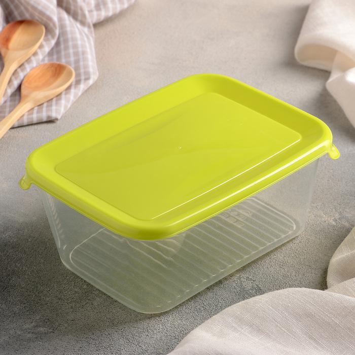 """Ёмкость для продуктов 1 л """"Практик"""", цвет салатовый"""