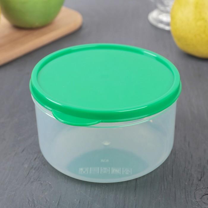 Набор контейнеров пищевых круглых, 3 шт: 150 мл; 300 мл; 500 мл, цвет зеленый