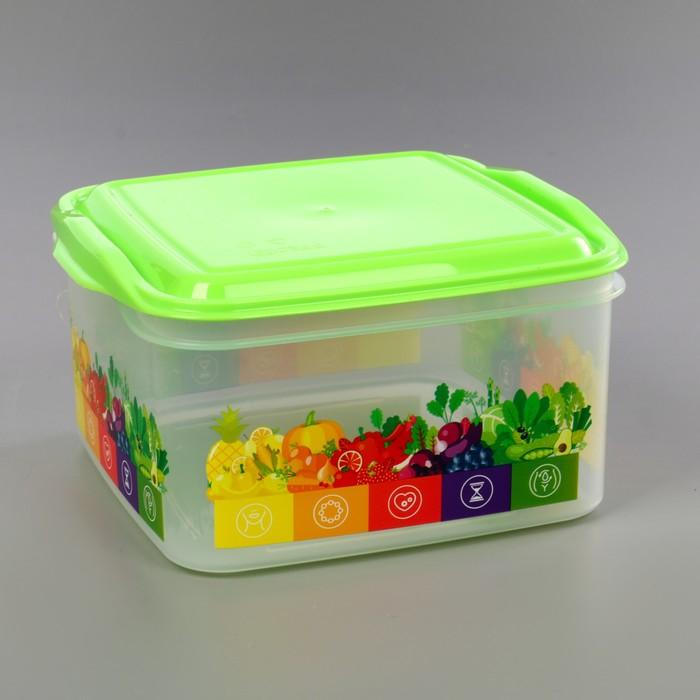 Контейнер для хранения продуктов 1,4 л Vitaline, цвет салатовый