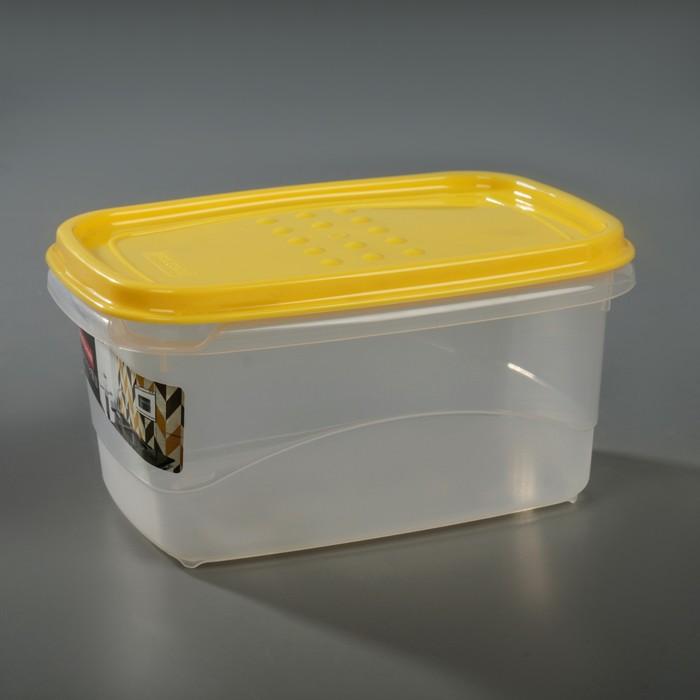 Емкость для хранения пищевых продуктов 600 мл Pattern Flex, цвет охровый