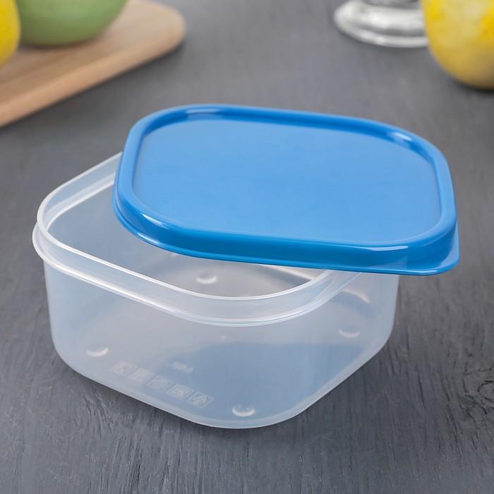 Набор пищевых контейнеров, 2 шт: 450 мл, 700 мл, цвет голубой