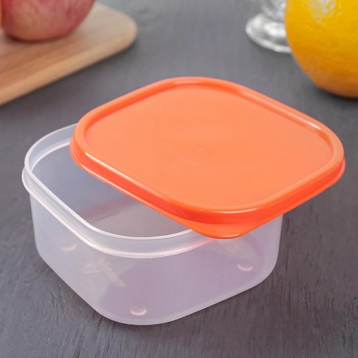 Набор пищевых контейнеров, 2 шт: 450 мл, 700 мл, цвет оранжевый
