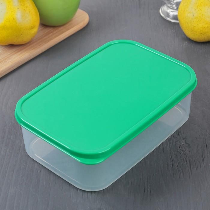 Контейнер пищевой 1,2 л, цвет зелёный