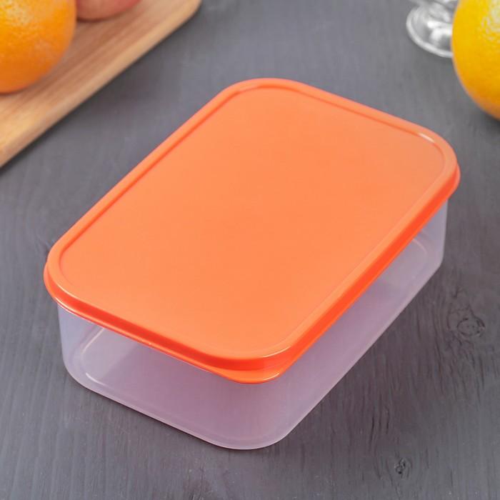 Контейнер пищевой 1,2 л, цвет оранжевый