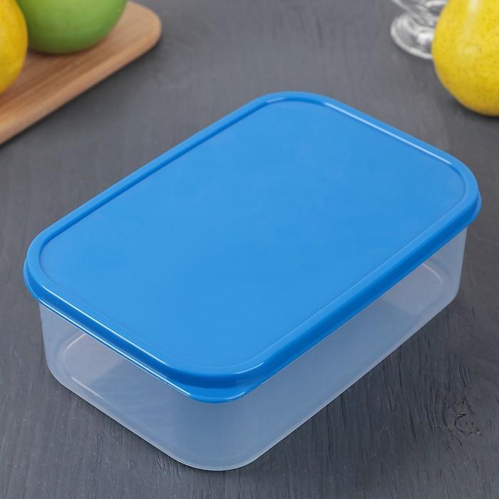 Контейнер пищевой 1,2 л, цвет синий