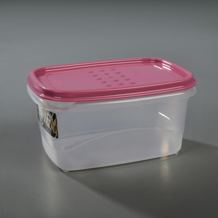 Емкость для хранения пищевых продуктов 600 мл Pattern Flex, цвет пурпурный