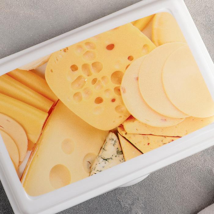 """Контейнер для нарезки """"Сыр"""", цвет белый"""