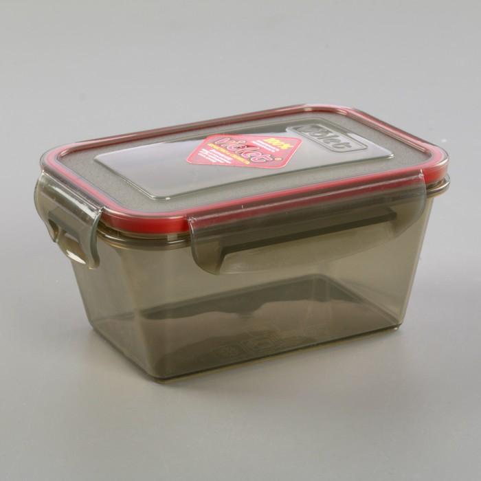 Контейнер герметичный прямоугольный 0,8 л, цвет дымчатый