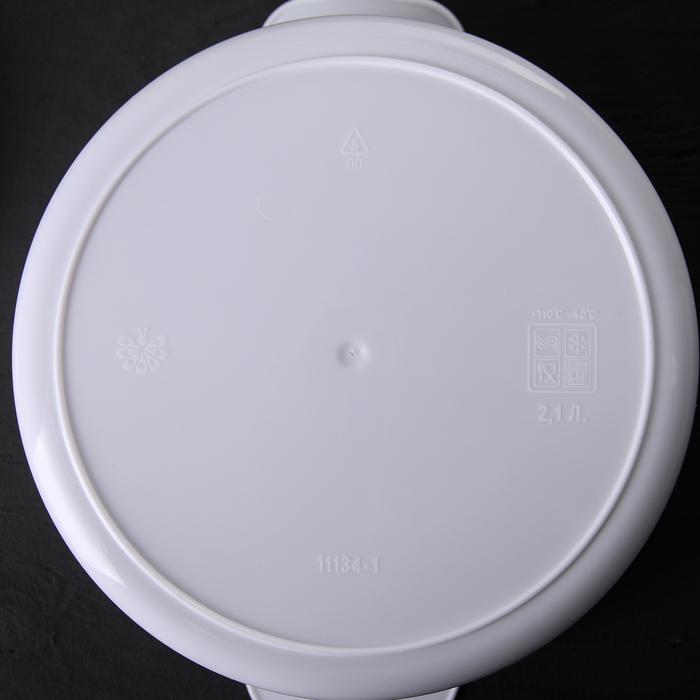 Кастрюля для СВЧ-печи 2,1 л, цвет МИКС