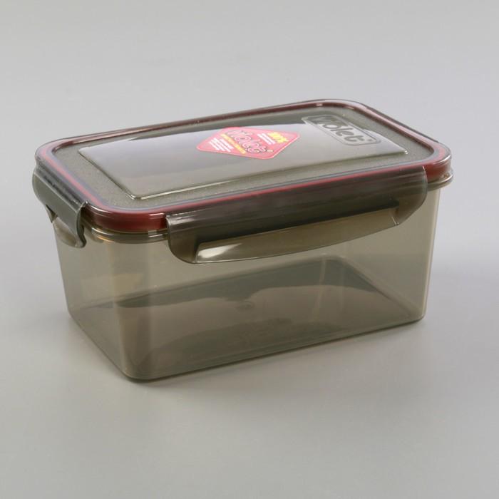 Контейнер герметичный прямоугольный 1,6 л, цвет дымчатый