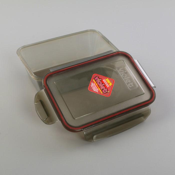 Контейнер герметичный прямоугольный 1,1 л, цвет дымчатый