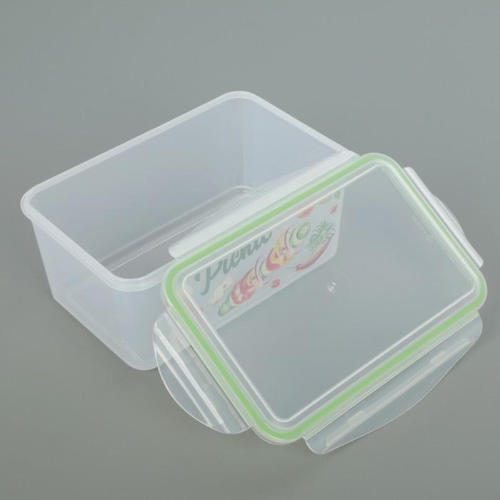 Контейнер для холодильника и микроволновой печи 1,6 л, с декором