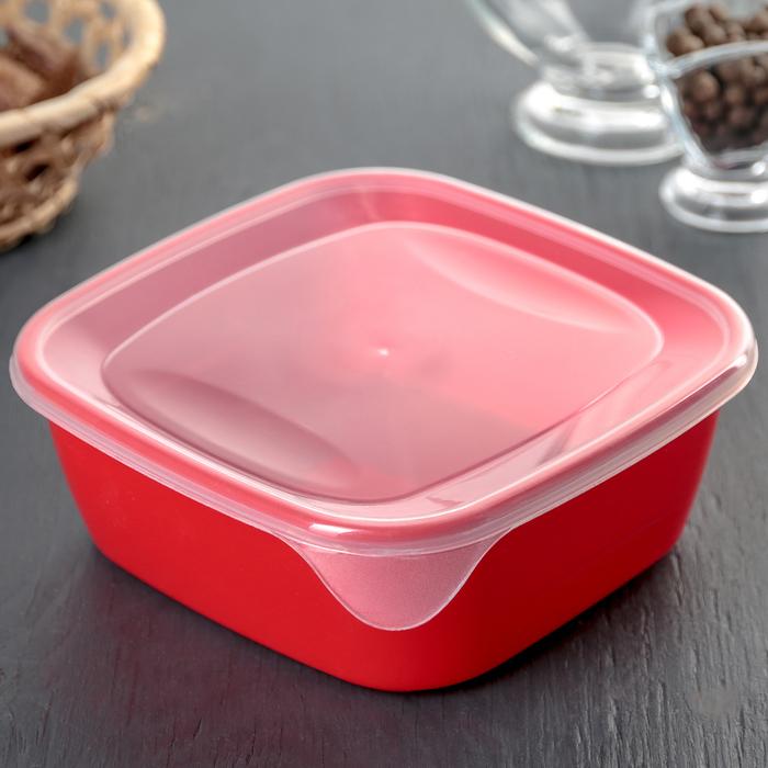Контейнер пищевой для СВЧ, квадратный 0,8 л, цвет МИКС