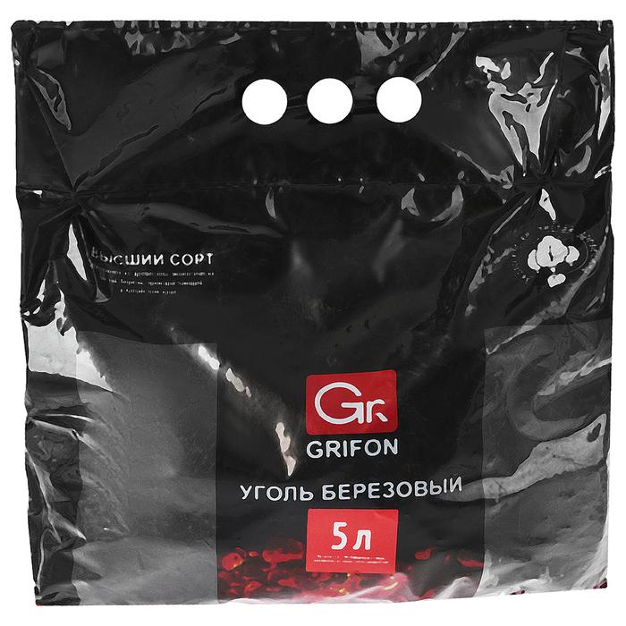 Уголь берёзовый GRIFON, пакет 5 л.