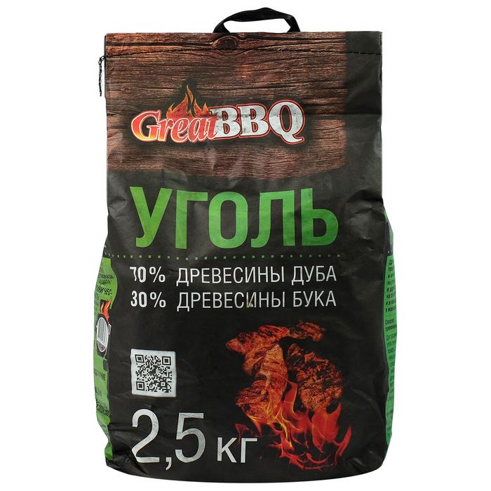 Уголь буковый GreatBBQ 2,5 кг