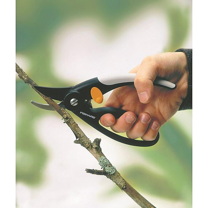 """Секатор плоскостной, 8"""" (20 см), пластиковые ручки с петлёй для пальцев, P44"""